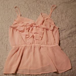 Medium top, like new, never worn, light pink